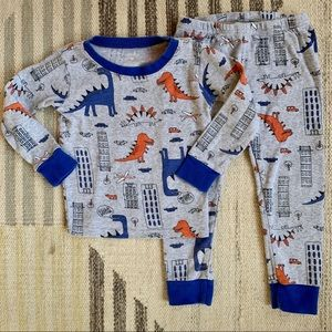 [carters] dinos in the city PJs 4T